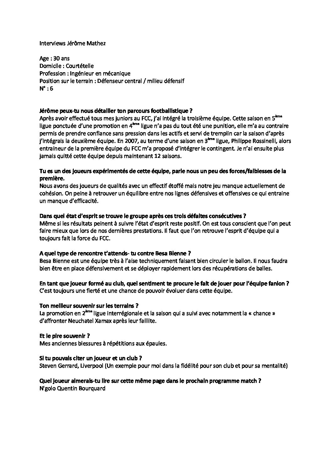 interview Jérôme Mathez